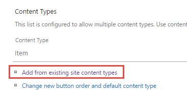 Add a new content type