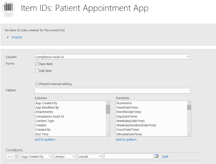 Patient Appointment on SharePoint