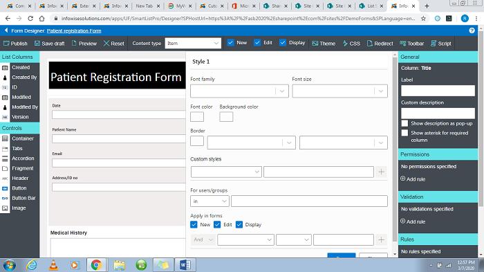 Infowise Form Designer