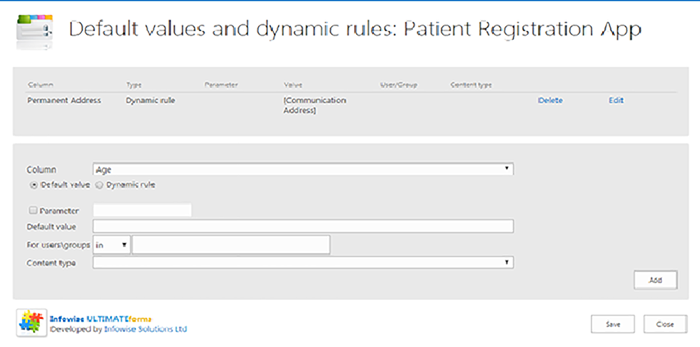 SharePoint Healthcare App