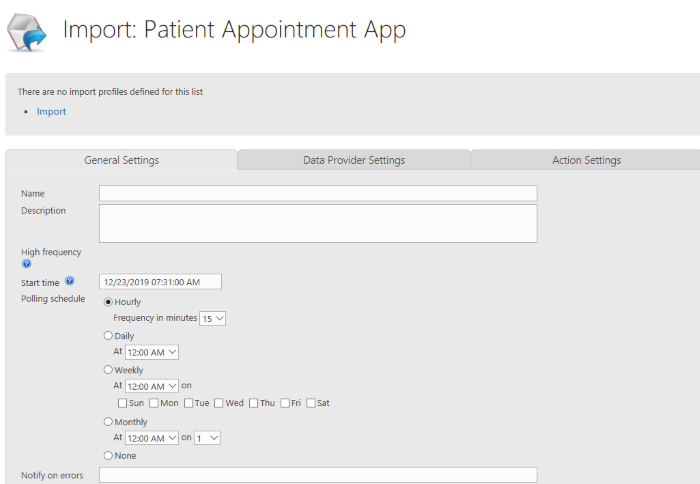 Building Patient Appointment App on SharePoint