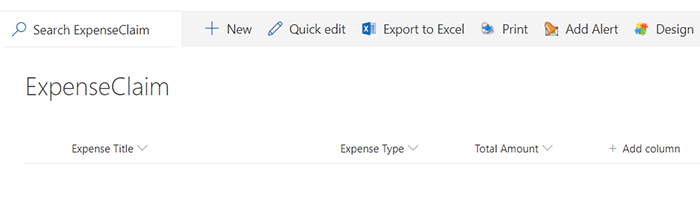 creating expense claim using Infowise for sharepoint and Microsoft Office 365