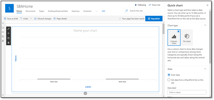 Creating  a Bank Deposits Dashboard with various Charts and Graphs using Infowise Ultimate Forms-02