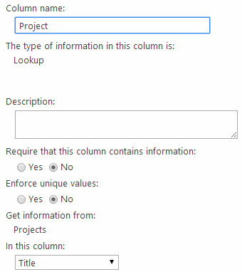 Project lookup