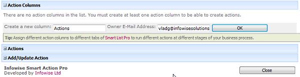 Create Action column