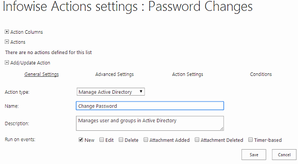 Manage AD - general settings