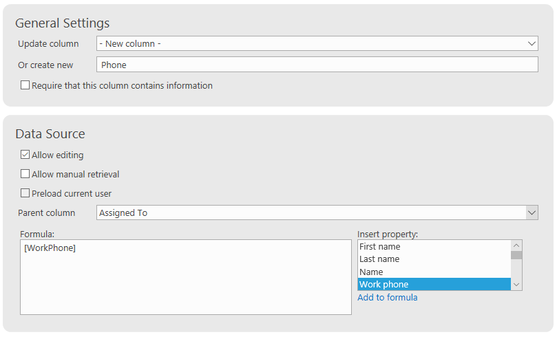 Use actions to send SMS messages from SharePoint lists and